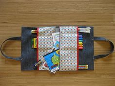 Fabric Art tote. this would make a good Christmas gift or even a end of the school gift filled with things to do over the summer