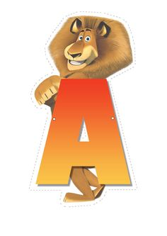 Welcome to Madagascar Escape 2 Africa Letters of Alphabet ! Here you will find a nice collection of Madagascar letters to print out. Madagascar Film, Madagascar Party, Second Birthday Ideas, 3rd Birthday Parties, Birthday Party Decorations, Kid Parties, Childrens Alphabet, Cute Alphabet, Lion King Birthday