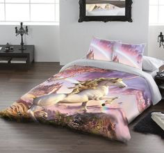 Maddy would love this   AWESOME UNICORN - DUVET & PILLOW COVERS CASE SET DOUBLE / US FULL TWIN Art by David Penfound