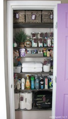 Bathroom Closet Shelving Ideas organized bathroom linen closet anyone can have | medicine storage