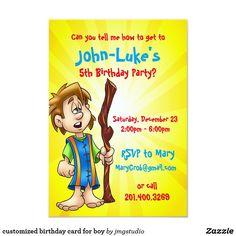 customized birthday card for boy