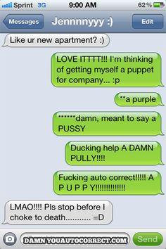 Autocorrect fail - Puppy - http://jokideo.com/autocorrect-fail-puppy/