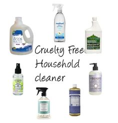 CRUELTY FREE HOUSEHOLD CLEANER BRANDS- CLICK FOR A LIST OF BRANDS | Beauty4Free2U
