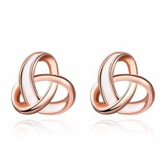 Love Knot Twist Post Stud Earrings Silver Star Earrings Stud Mothers Day Gifts >>> Wonderful having you for viewing our picture. (This is our affiliate link) Bar Stud Earrings, Girls Earrings, Small Earrings, Rose Gold Earrings, Unique Earrings, Round Earrings, Bridesmaid Earrings, Bridal Earrings, Bridesmaids