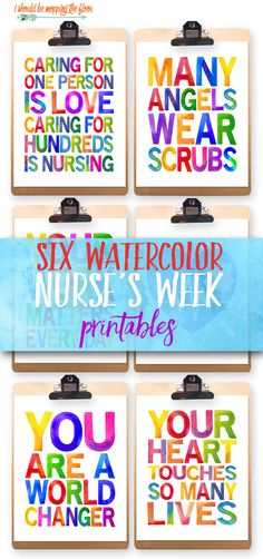 These Six Nurses Week Printables are just in time for celebrating some of our favorite healthcare workers. These make fantastic and inspiring gifts.or even decor in a common area for Nurses Appreciation Week. Nurses Week Memes, Nurses Week Gifts, Happy Nurses Week, Nurses Day, Nurse Gifts, Nurses Week Ideas, Teacher Gifts, Nurse Appreciation Week, Appreciation Quotes