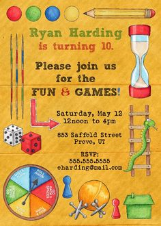 Fun game night invite random pinterest game night gaming and nice invitations for birthday party templates stopboris Images