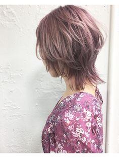 【2018年春夏】#オイカワ#柔らかウルフ×透明感ピンクパール*/KENJE 横浜 【ケンジ ヨコハマ】のヘアスタイル BIGLOBEヘアスタイル