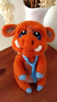 Mr Hoglington is designed and handmade by Jacqui Thornton from Fantastical Ewe