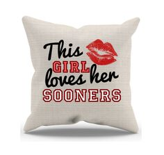 Though we are now in NFL season, we can still support our Oklahoma Sooners with some cool home goodies. Accentuate your living room or bedroom with some Sooner love items inside.