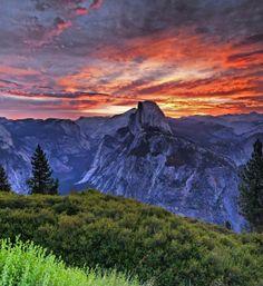 Sunrise, Half Dome, Yosemite, California