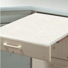 Hailo Rapid Pull-out Table for 500mm Width Cabinets - White/Grey Flecked