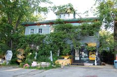 All of the crazy contraptions in this haunted place were built by owner Jim Warfield.