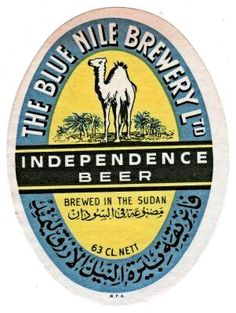 Vintage Label: The Blue Nile Brewery beer label