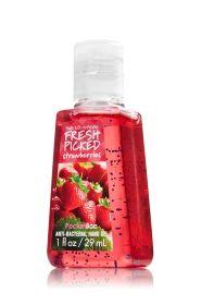 Fresh Picked Strawberries Pocketbac Sanitizing Hand Gel - Anti-Bacterial - Bath & Body Works