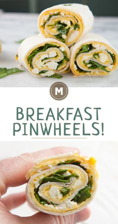 Breakfast Pinwheels: Have you ever noticed that a skillet and a tortilla are the same size? Makes these egg and cheese breakfast pinwheels really easy to make! Check out the post for my sizing tricks!