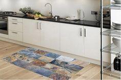 Kitchen rug -  model caves - suitable for kitchen, bathroom, entrance, garden / Floor & Rugs / kitchen floor mat / kitchen mat by Printip on Etsy