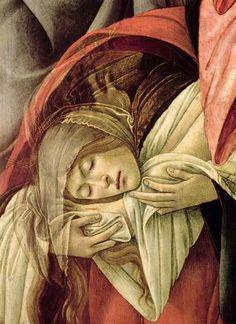 Magdalene at His feet....