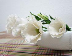 Поделка изделие Флористика 8 марта Лепка Эустома мастер-класс или пробуждение Спящей Красавицы Фарфор холодный фото 1