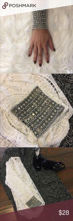 Dazzling Retro Cuff Dazzling retro cuff.  Five row multilayer bracelet. Expandable. Jewelry Bracelets