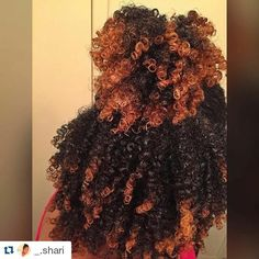 """naturalhairqueens: """"so much body in her hair! Dyed Natural Hair, Natural Hair Tips, Natural Hair Journey, Dyed Hair, Natural Hair Styles, Natural Curls, Natural Hair With Color, Grow Natural Hair Faster, Natural Hair Weaves"""