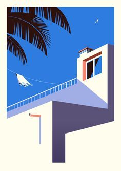 Malika Favre designed a beautiful series of geometric prints depicting the local architecture and landscape in Fuerteventura: