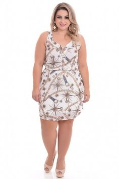 Vestido Plus Size Golden Dream