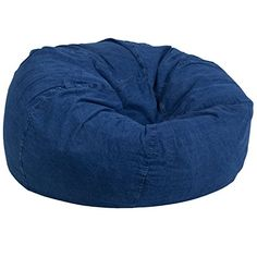 Flash Furniture Oversized Denim Kids Bean Bag Chair