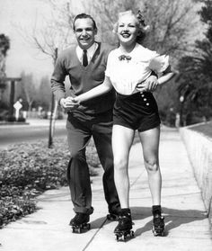 Jackie Coogan and Betty Grable in April 1936