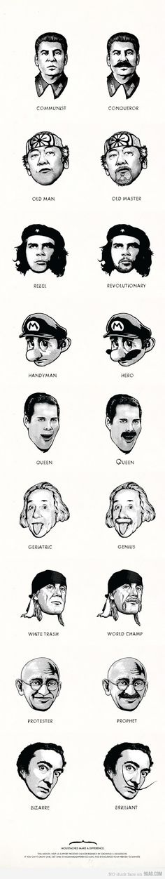 Mustaches make a difference.