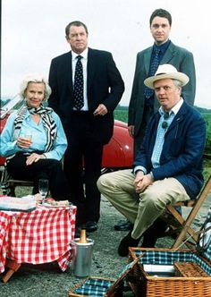 Credit: ITV Midsomer Murders never had a problem attracting big name guest stars. The only problem was they tended to detract from the mystery. In Midsomer the butler rarely does it - the most famous person does. This episode was called A Talent For Life, and co-starred Honor Blackman and Philip Franks.