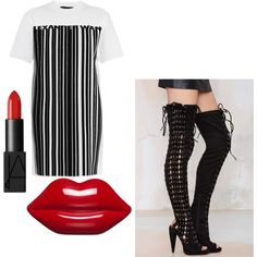 Untitled #103 by msjaylarae on Polyvore featuring polyvore, fashion, style, Alexander Wang, Jeffrey Campbell, Lulu Guinness and NARS Cosmetics