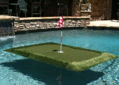 This is just too fun not to post. Floating Golf Greens. My family would get a kick out of this!!