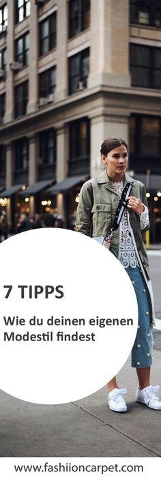 Nina Schwichtenberg verrät euch 7 Tipps, wie ihr euren eigenen Modestil findet, wo ihr euch inspirieren lassen könnt & ihre ganz eigenen Styling-Tipps. Mehr auf www.fashiioncarpet.com