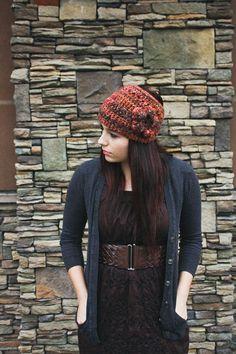 Crocheted Ski or Snowboarding Headband with Flower by ShopLadyLike, $24.00