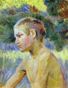 Boy Seated - Victor Borisov-Musatov