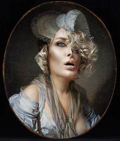 Thomas Robson  http://4.bp.blogspot.com/-EHVvxZKIf4g/UO55pc_Tc9I/AAAAAAAAAT4/A36Ztr6y0-c/s1600/thomas-robson-art-remix-vogue-art-collage-portraits-hp1.jpg