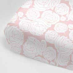 Rose Coral Crib Sheet $55