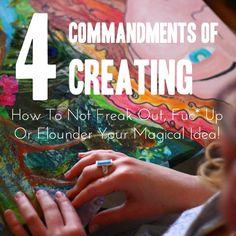 4 commandments of creating, leonie dawson