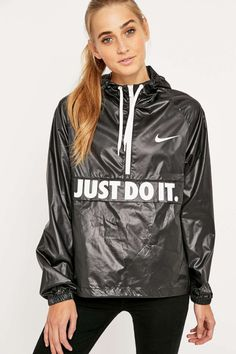 Shop Nike City Packable Jacket at Urban Outfitters today. Nylons, Stella Mccartney, Nike Noir, Streetwear, Urban Outfitters, Black Raincoat, Packable Jacket, Nike Windbreaker, Rain Wear