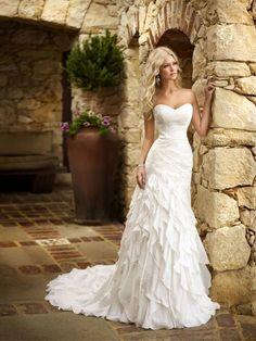 Summer wedding gown.