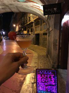 Pink Street, Lisbon. Near Pink Wine Point bar.