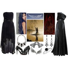 Styx (Goddess of the River Styx) by lilacmayn on Polyvore featuring moda, AX Paris, Arunashi, Bernard Delettrez, Ana Khouri, Reeds Jewelers and TIARA