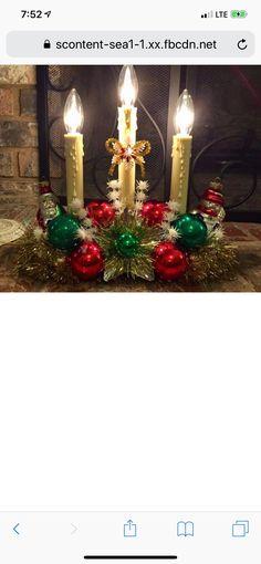 Christmas Past, Christmas Candles, Christmas Wreaths, Christmas Gifts, Christmas Decorations, Xmas, Holiday Decor, Christmas Ideas, Vintage Christmas Ornaments 1950s