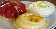 Mini-Tortinhas de Morango, Limão e Maracujá