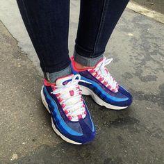 buy popular 80300 8c00a Sneakers femme - Nike Air Max 95  University Blue Bright Mango ( girls  always