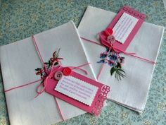 Hanky Favor with Tag for Ladies Events