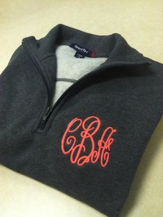1/4 Zip Up Monogrammed Pull Over by WhoDeyPromotions on Etsy, $33.50
