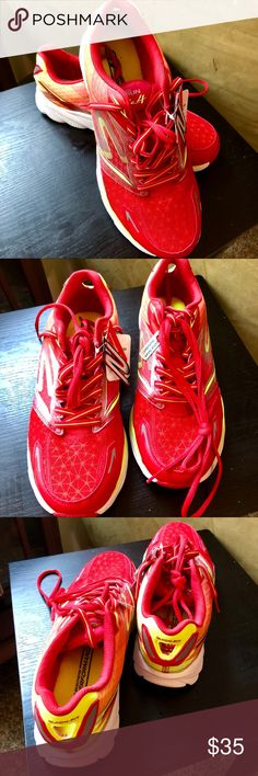Skechers Performance Running Shoes Sizes 10-12 Brand new Skechers Performance Running Shoes. These will NOT come in a box, but all have their tags. Super lightweight and breathable. Bright red and yellow. Available in multiple sizes. Comes from a smoke free home. Skechers Shoes Athletic Shoes