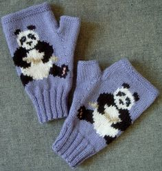 The knitting pattern for these lovely Panda fingerless mitts is for sale and costs £3.50. It is available in PDF format and will be sent to the buyer's email address.