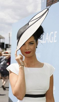 Martha Lynn Millinery-simply chic with black and white